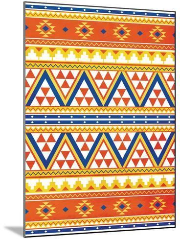 Aztec Pattern Colors-Jace Grey-Mounted Art Print