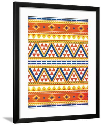 Aztec Pattern Colors-Jace Grey-Framed Art Print