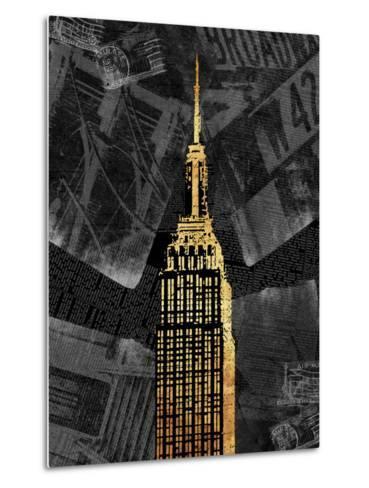 Gold NY-Jace Grey-Metal Print
