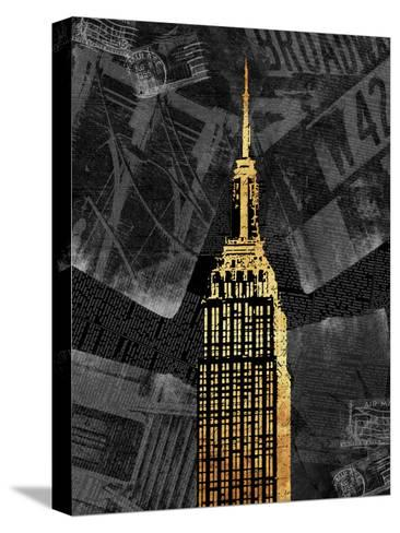 Gold NY-Jace Grey-Stretched Canvas Print