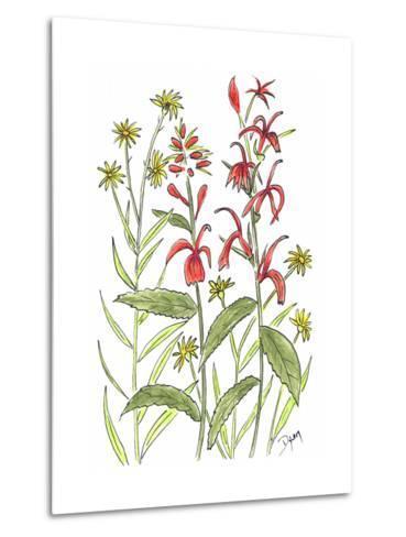Cardinal Flower-Beverly Dyer-Metal Print