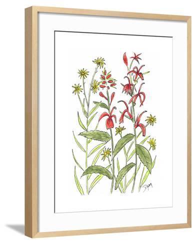 Cardinal Flower-Beverly Dyer-Framed Art Print