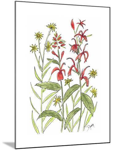 Cardinal Flower-Beverly Dyer-Mounted Art Print