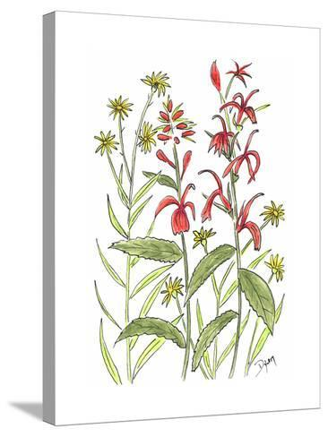 Cardinal Flower-Beverly Dyer-Stretched Canvas Print