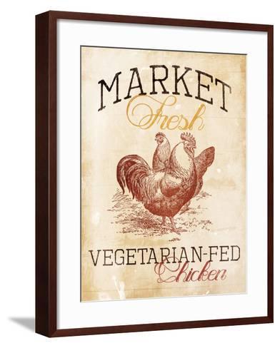 Vegetarian Fed Chicken-Jace Grey-Framed Art Print