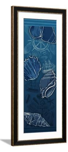 Deep Blue-Jace Grey-Framed Art Print