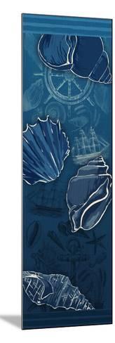Deep Blue-Jace Grey-Mounted Art Print