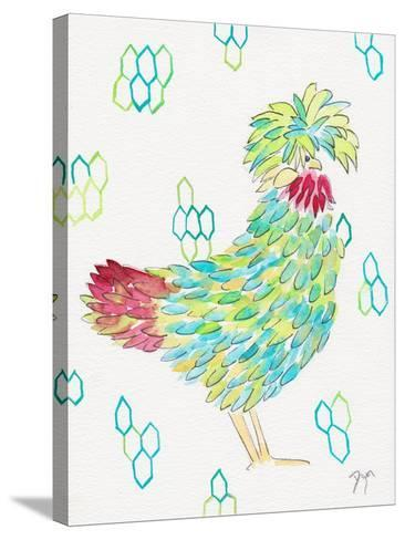 Funky Chicken 1-Beverly Dyer-Stretched Canvas Print