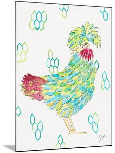 Funky Chicken 1-Beverly Dyer-Mounted Art Print