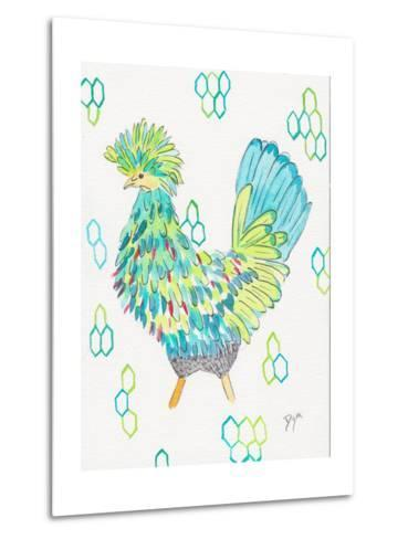 Funky Chicken 2-Beverly Dyer-Metal Print