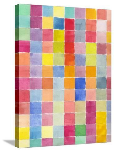 Rainbow Color Block 1-Beverly Dyer-Stretched Canvas Print