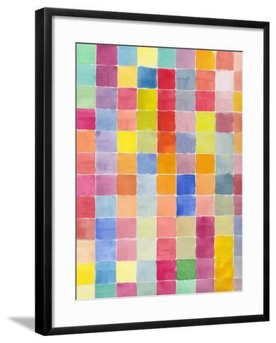 Rainbow Color Block 1-Beverly Dyer-Framed Art Print