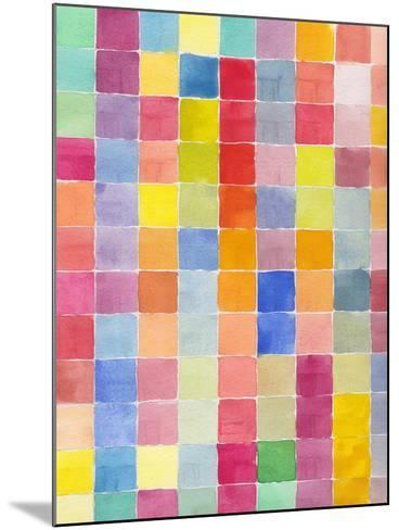 Rainbow Color Block 1-Beverly Dyer-Mounted Art Print