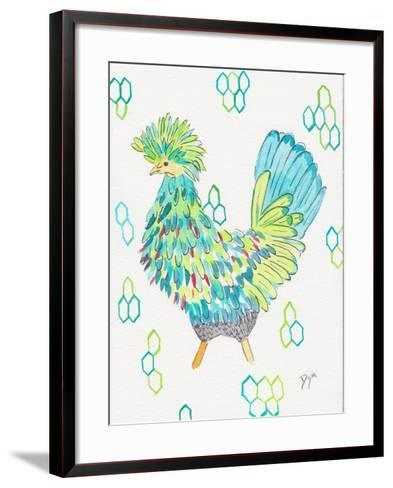 Funky Chicken 2-Beverly Dyer-Framed Art Print