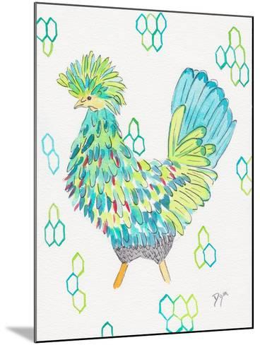 Funky Chicken 2-Beverly Dyer-Mounted Art Print