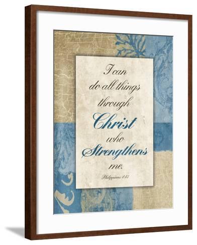 Christ Strength-Jace Grey-Framed Art Print