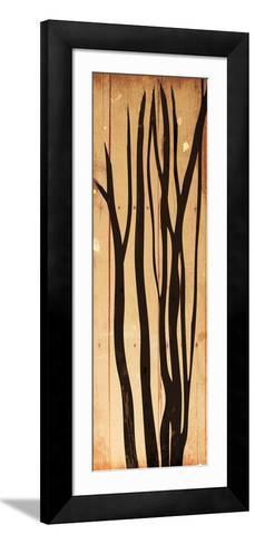 Branch On Wood-Jace Grey-Framed Art Print