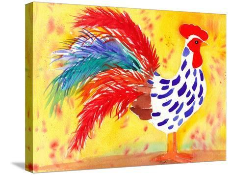Farm House Rooster II-Beverly Dyer-Stretched Canvas Print