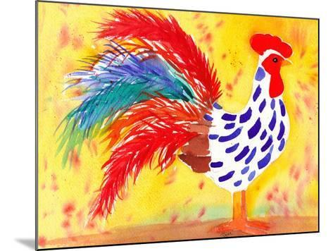 Farm House Rooster II-Beverly Dyer-Mounted Art Print