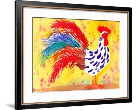 Farm House Rooster II-Beverly Dyer-Framed Art Print