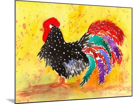 Farm House Rooster I-Beverly Dyer-Mounted Art Print