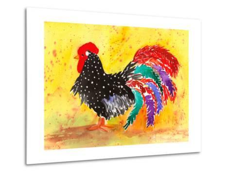 Farm House Rooster I-Beverly Dyer-Metal Print