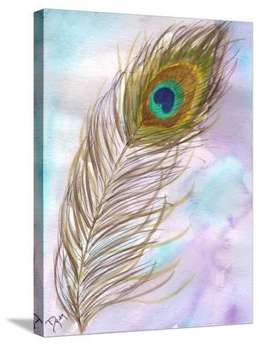 Peacock Feather 1-Beverly Dyer-Stretched Canvas Print