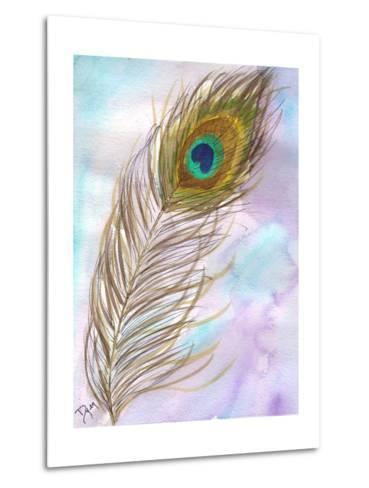 Peacock Feather 1-Beverly Dyer-Metal Print