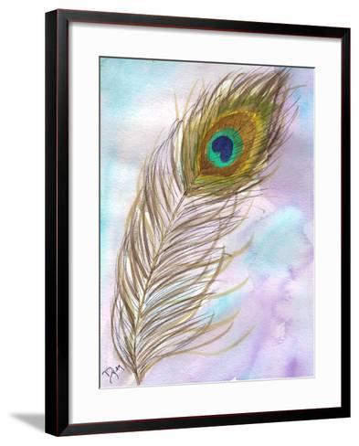 Peacock Feather 1-Beverly Dyer-Framed Art Print