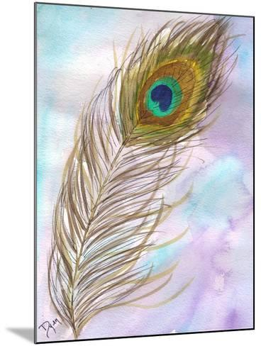 Peacock Feather 1-Beverly Dyer-Mounted Art Print