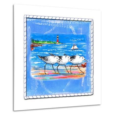 Beach-Front-Shore Birds-Ormsby, Anne Ormsby-Metal Print