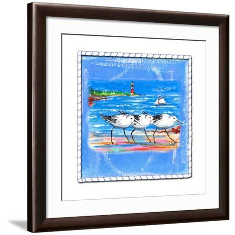 Beach-Front-Shore Birds-Ormsby, Anne Ormsby-Framed Art Print