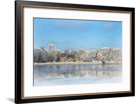 broceliande castle in winter morning-Phillipe Manguin-Framed Art Print