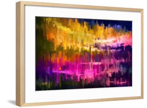 City at Night 2-Ursula Abresch-Framed Art Print