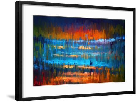 City at Night 1-Ursula Abresch-Framed Art Print