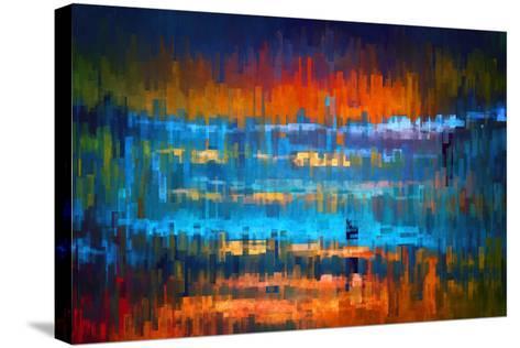 City at Night 1-Ursula Abresch-Stretched Canvas Print
