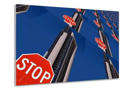 Stop 2-Ursula Abresch-Metal Print