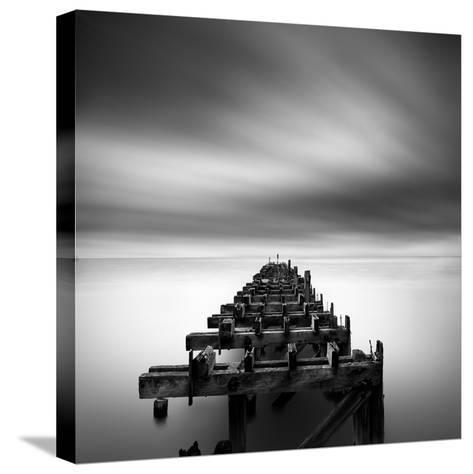 Ruined Pier-George Digalakis-Stretched Canvas Print