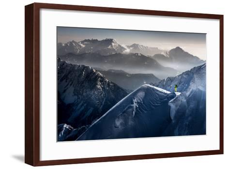Silent Moments before Descent-Sandi Bertoncelj-Framed Art Print