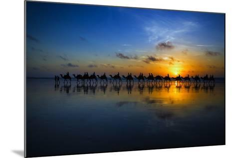Sunset Camel Ride-Louise Wolbers-Mounted Photographic Print
