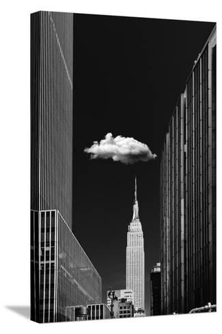 Single Cloud-Jackson Carvalho-Stretched Canvas Print