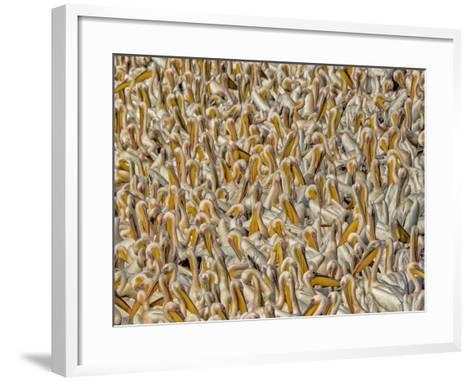 Crowded-Keren Or-Framed Art Print
