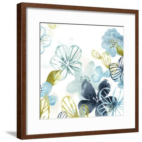 Aqua Flora II-June Vess-Framed Art Print