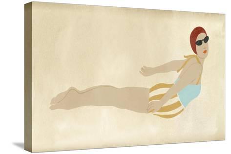 Vintage Diver I-June Vess-Stretched Canvas Print