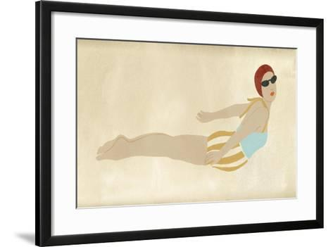 Vintage Diver I-June Vess-Framed Art Print