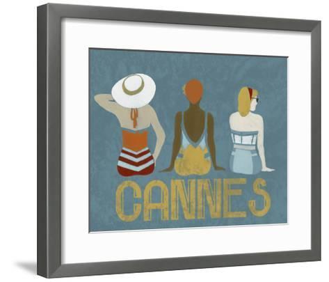 Vintage Bathing Beauties II-June Vess-Framed Art Print