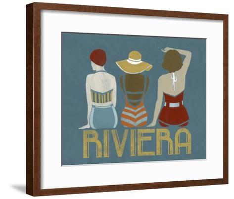 Vintage Bathing Beauties I-June Vess-Framed Art Print