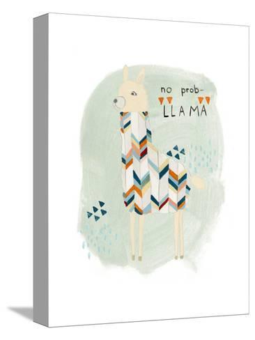 Llama Squad I-June Vess-Stretched Canvas Print