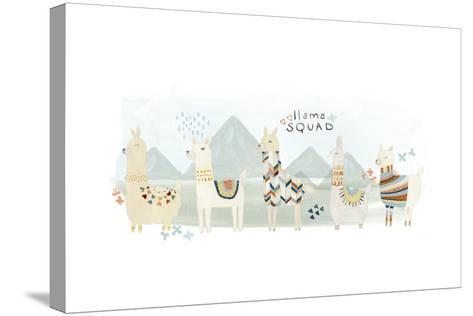 Llama Squad III-June Vess-Stretched Canvas Print