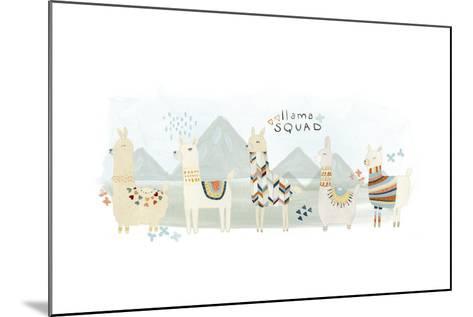 Llama Squad III-June Vess-Mounted Art Print